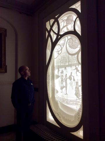 Large lightbox for Christmas at Kensington Palace